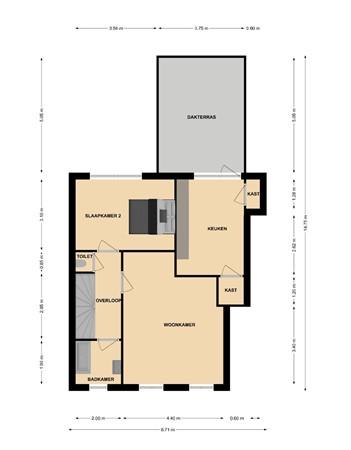 Floorplan - Streeperstraat 13-13 A, 6371 GK Landgraaf