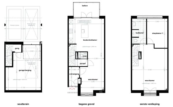 Floorplan - Schinkelstraat Bouwnummer 110, 6411 LN Heerlen
