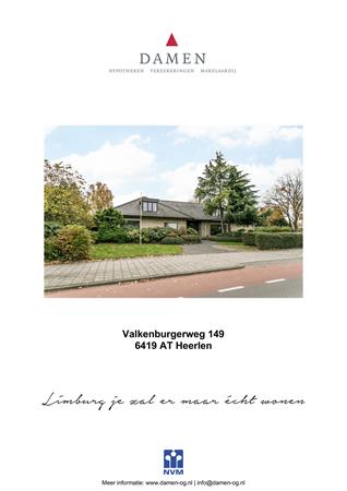 Brochure preview - Valkenburgerweg 149, 6419 AT HEERLEN (1)