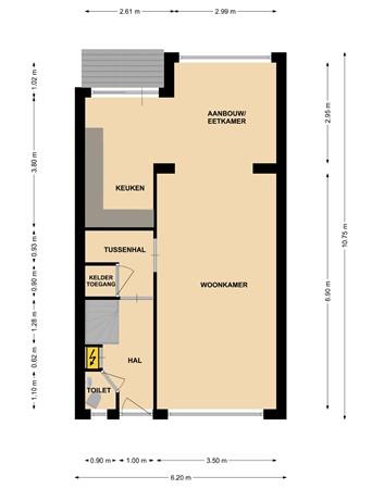 Floorplan - Ridderstraat 3, 6371 AL Landgraaf