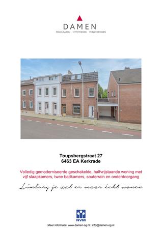 Brochure preview - Toupsbergstraat 27, 6463 EA KERKRADE (1)