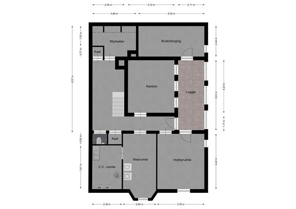 Floorplan - Stationstraat 30, 6191 BE Beek