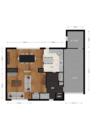 Floorplan - Beukenbosweg 20, 6464 AB Kerkrade
