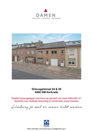 Brochure preview - Drievogelstraat 24-26, 6466 GM KERKRADE (1)