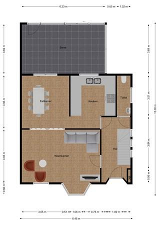Floorplan - Vliegenstraat 8, 6241 CH Bunde