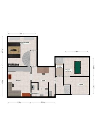 Floorplan - Terschurenweg 57, 6432 JS Hoensbroek