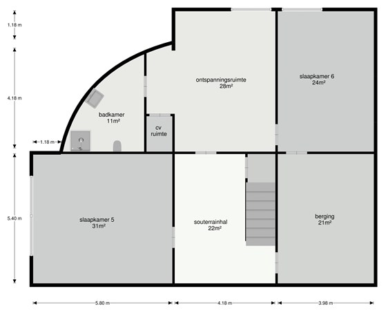 Floorplan - Molenweg 59, 6225 NB Maastricht