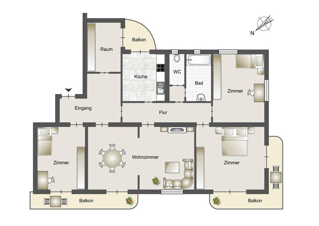Floorplan - 391012 Meran