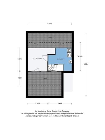 Floorplan - Bonte Specht 23, 3893 JD Zeewolde