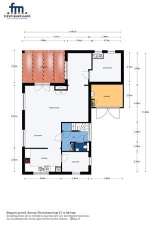 Floorplan - Samuel Esmeijerstraat 21, 1318 CA Almere