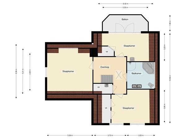 Floorplan - Zanzibarstraat 33, 1339 RP Almere