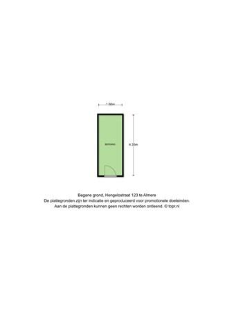Floorplan - Hengelostraat 123, 1324 GZ Almere