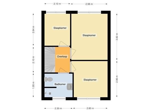 Floorplan - Zalmplein 18, 1317 RR Almere