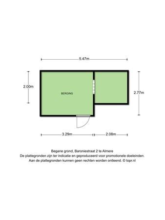 Floorplan - Baroniestraat 2, 1333 TK Almere