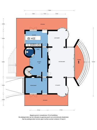 Floorplan - Louisahoeve 15, 2131 MP Hoofddorp