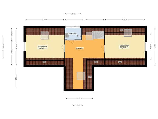 Floorplan - Lakenhalstraat 9, 1335 XJ Almere