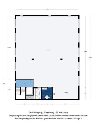 Floorplan - Wisselweg 156, 1314 CC Almere