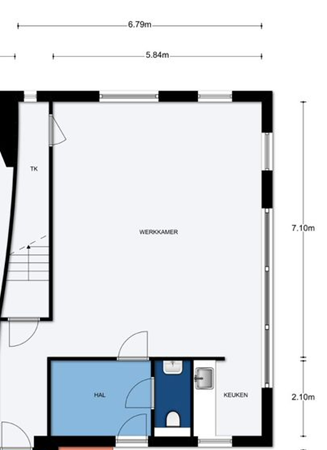 Floorplan - Kweekgrasstraat 48, 1313 BT Almere