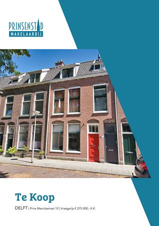 Brochure - Prins Mauritsstraat 10, 2628 ST DELFT (1) - Prins Mauritsstraat 10, 2628 ST Delft