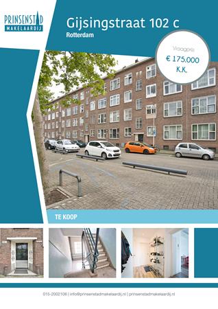 Brochure - Gijsingstraat 102-c, 3026 RS ROTTERDAM (1) - Gijsingstraat 102c, 3026 RS Rotterdam