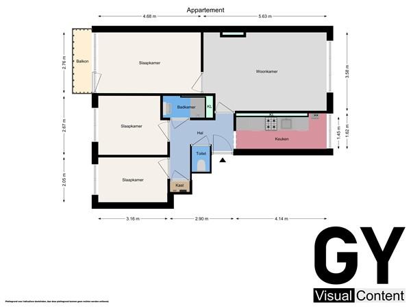 Plattegrond - Gijsingstraat 102c, 3026 RS Rotterdam - Appartement.jpg
