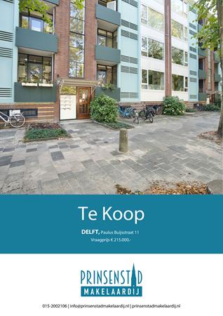 Brochure - Paulus Buijsstraat 11, 2613 HL DELFT (1) - Paulus Buijsstraat 11, 2613 HL Delft