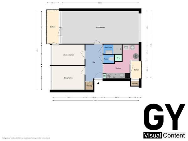 Plattegrond - Paulus Buijsstraat 11, 2613 HL Delft - Appartement.jpg