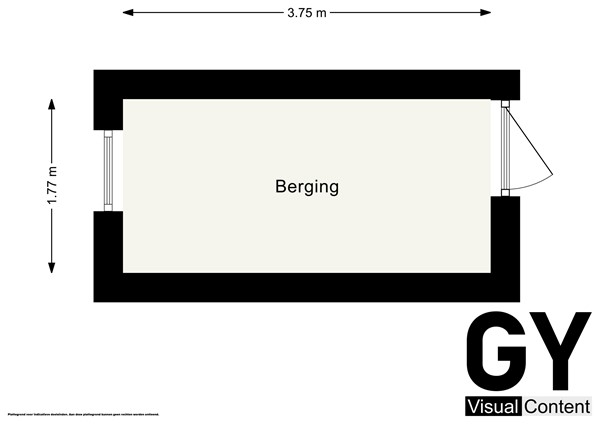 Plattegrond - Paulus Buijsstraat 11, 2613 HL Delft - Berging.jpg