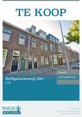 Brochure - Delfgauwseweg 155, 2628 EL DELFT (1) - Delfgauwseweg 155, 2628 EL Delft