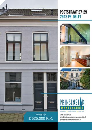 Brochure - Pootstraat 27-29, 2613 PE DELFT (1) - Pootstraat 27-29, 2613 PE Delft