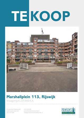 Brochure - Marshallplein 113, 2286 LK RIJSWIJK (1) - Marshallplein 113, 2286 LK Rijswijk