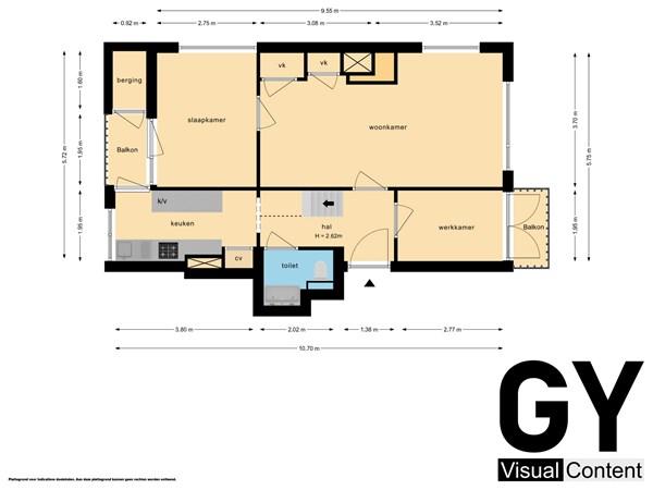 Plattegrond - Albert Verweystraat 66, 2274 LL Voorburg - Beneden.jpg