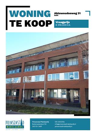 Brochure - Abtswoudseweg 31, 2627 AK DELFT (1) - Abtswoudseweg 31, 2627 AK Delft