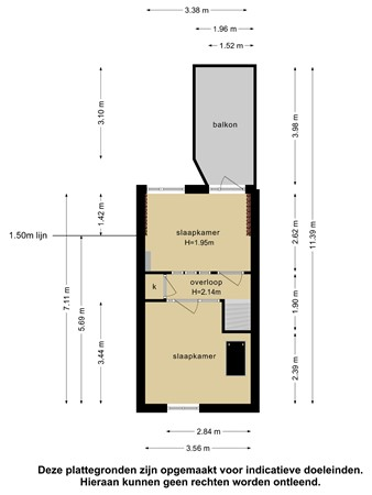 Plattegrond - Hovenierstraat 33, 2613 RM Delft - 103152042_hovenierstraat_33_1e_verdieping_first_design_20210604081114.jpg