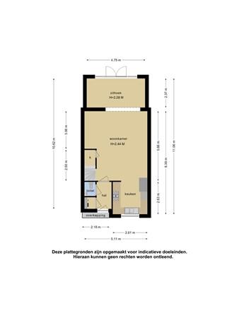 Plattegrond - Gabonstraat 11, 2622 DL Delft - 102257964_gabonstraat_11_begane_grond_first_design_20210524043112.jpg