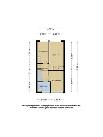 Plattegrond - Chinalaan 28, 2622 JT Delft - 101360526_chinalaan_28_1e_verdieping_1e_verdieping_20210511061638.jpg