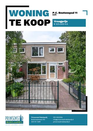Brochure - P.C. Boutenspad 11, 2624 VL DELFT (1) - P.C. Boutenspad 11, 2624 VL Delft