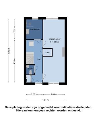 Plattegrond - Hoflandendreef 48, 2614 MV Delft - 107776446_hoflandendreef_48_2e_verdieping_first_design_20210909052158.jpg