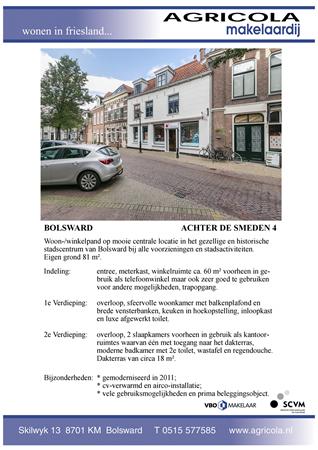 Brochure preview - bolsward, achter de smeden 4, brochure