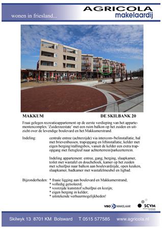Brochure preview - makkum, de skilbank 20, brochure
