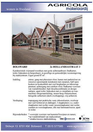 Brochure preview - bolsward, 2e hollandiastraat 3, brochure