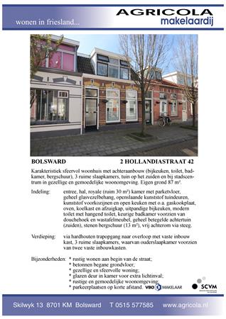 Brochure preview - bolsward, 2e hollandiastraat 42, brochure