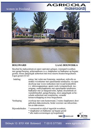 Brochure preview - bolsward, laag bolwerk 6, brochure