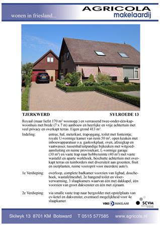 Brochure preview - tjerkwerd, sylroede 13, brochure