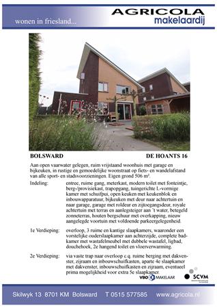 Brochure preview - bolsward, de hoants 16, brochure