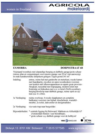 Brochure preview - exmorra, dorpsstraat 68, brochure