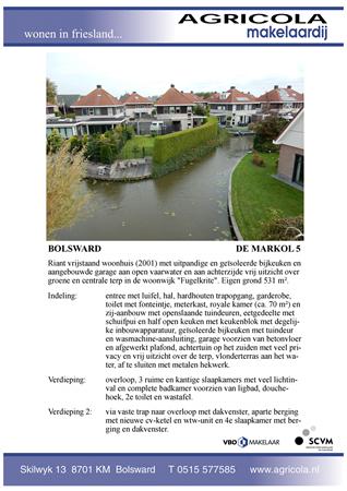 Brochure preview - bolsward, de markol 5, brochure