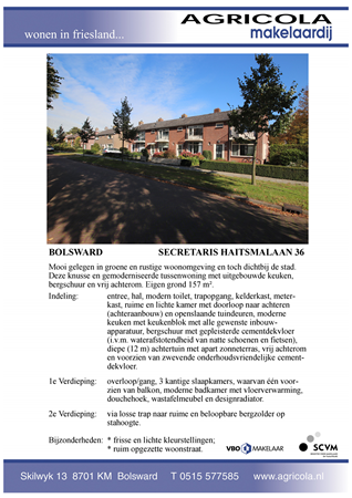 Brochure preview - bolsward, secretaris haitsmalaan 36, brochure