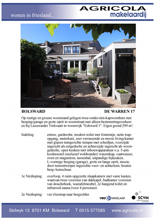 Brochure preview - bolsward, de warren 17, brochure