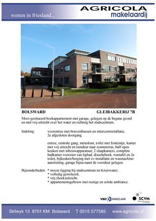 Brochure preview - bolsward, gleibakkerij 7b, brochure